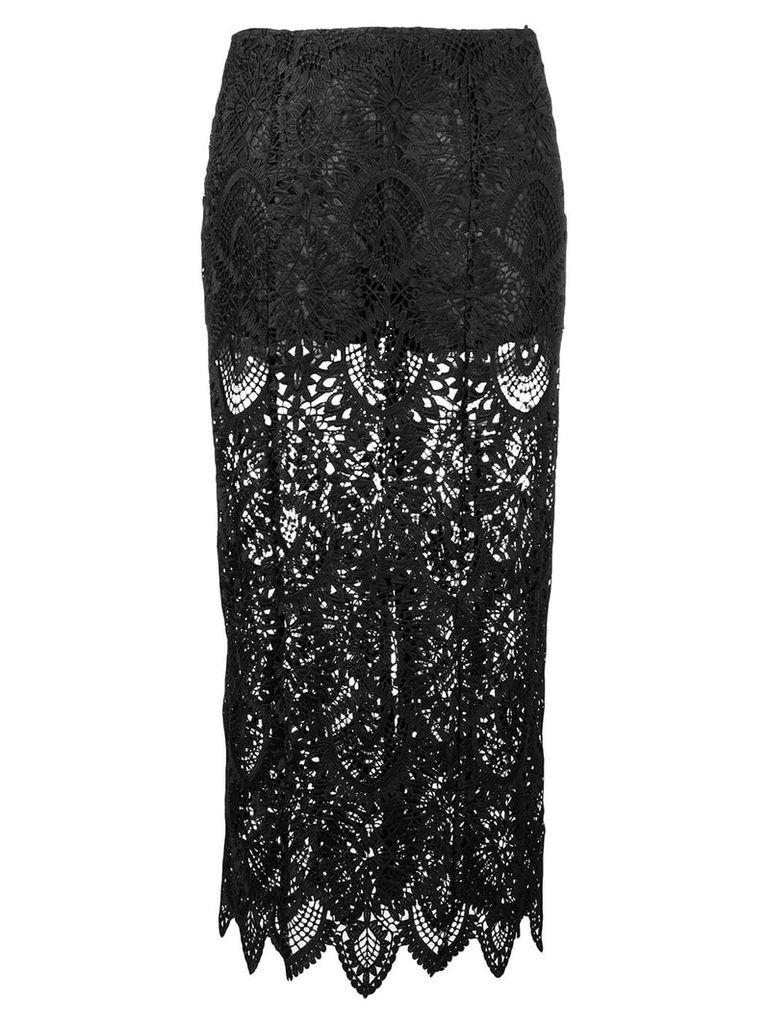 Dondup lace midi skirt - Black