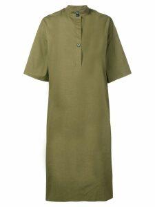 Fay half sleeve midi dress - Green