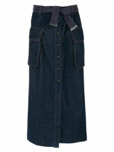 Andrea Bogosian long denim skirt - Blue