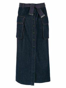 Andrea Bogosian long denim skirt - Blue