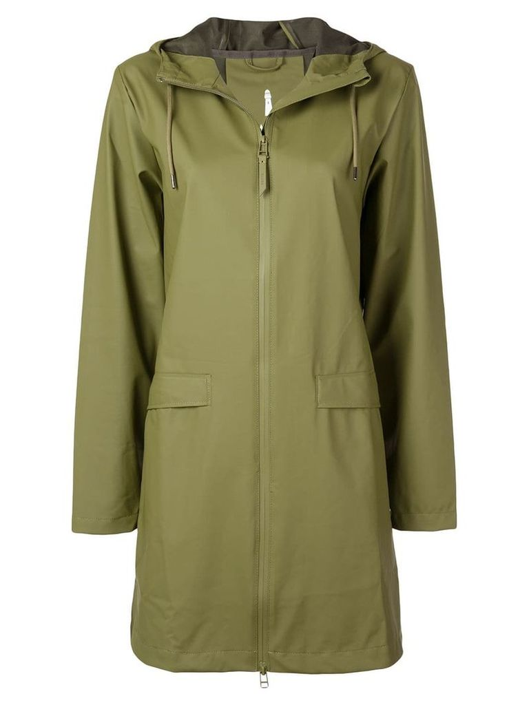 Rains hooded raincoat - Green