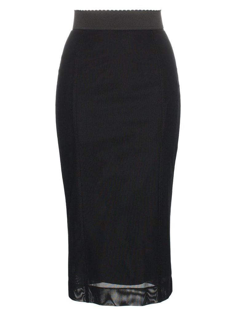 Dolce & Gabbana high-waisted pencil skirt - Black