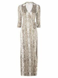 Dvf Diane Von Furstenberg Python print silk dress - Green
