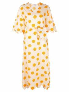 Rhode Resort polka-dot midi dress - Neutrals