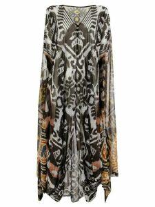 Afroditi Hera Ikat kaftan dress - Grey
