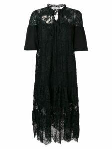 McQ Alexander McQueen floral lace dress - Black