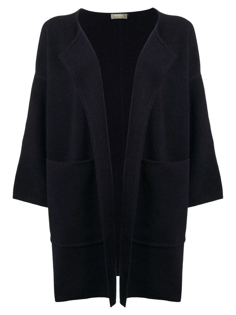 N.Peal Milano Open Front cardigan - Blue