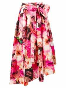 MSGM flared floral print skirt - Pink