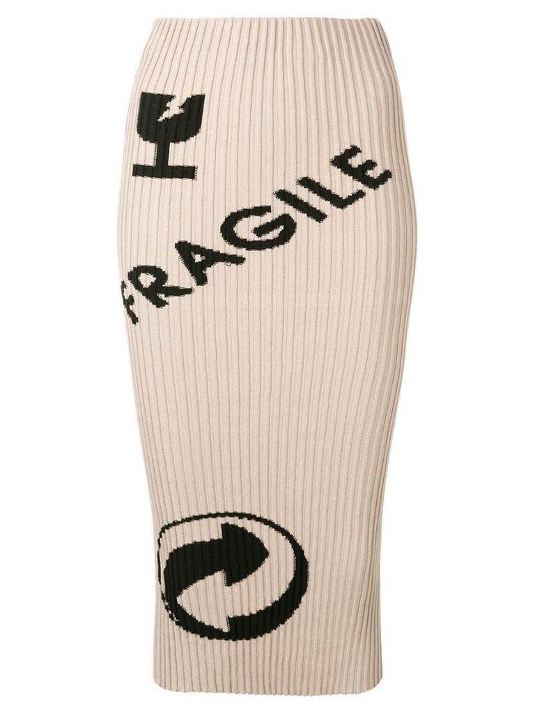 Maison Margiela Cartoon print knitted skirt - Neutrals