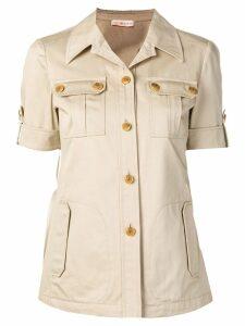 Tory Burch shortsleeved Safari shirt - Neutrals