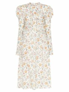 Wright Le Chapelain Liberty floral print poof shoulder dress - White