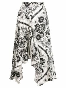 Caroline Constas abstract print asymmetric skirt - White