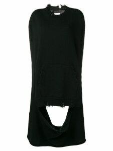 Maison Margiela distressed long jumper - 900 Black