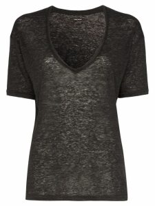 Isabel Marant Maree V-neck linen T-shirt - Grey