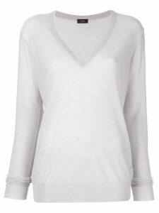 Joseph knit semi-sheer sweater - Silver