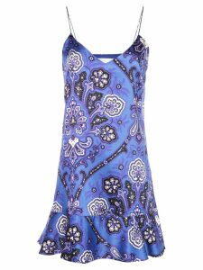 Caroline Constas abstract print short dress - Blue