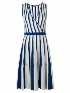 N.Peal striped wrap front dress - Blue