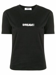 MSGM printed 'Dream' T-shirt - Black