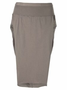 Rick Owens DRKSHDW side slit skirt - Brown