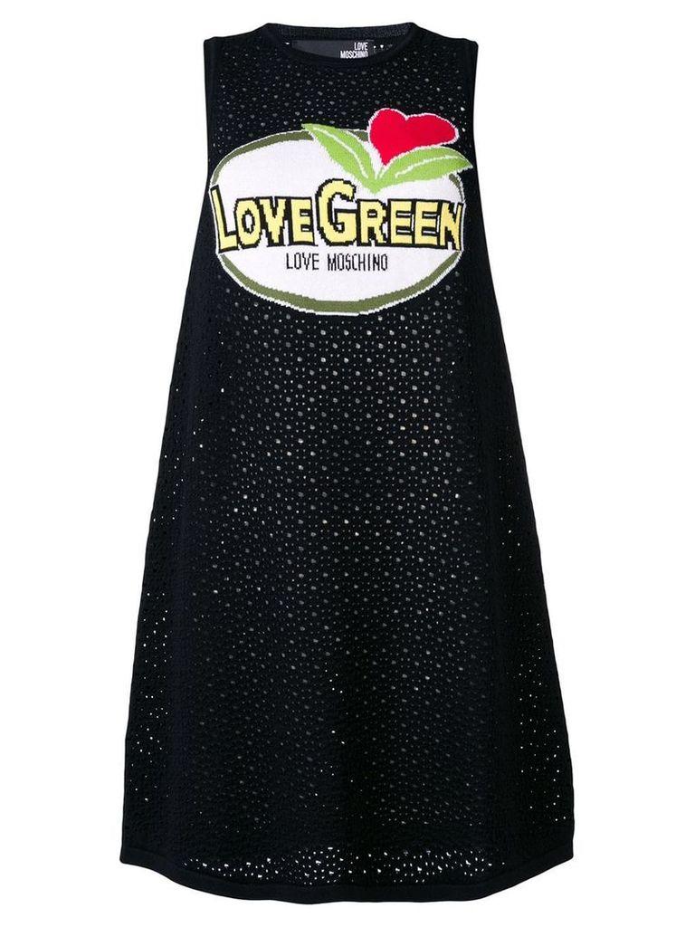 Love Moschino cut-work knitted dress - Black