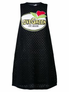 Love Moschino cut-work knitted dress - Black