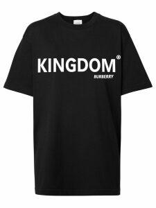 Burberry Kingdom print T-shirt - Black