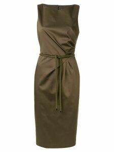 Max Mara boat neck midi dress - Brown