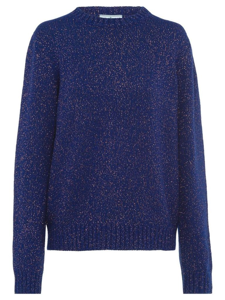 Prada speckled knit jumper - Blue