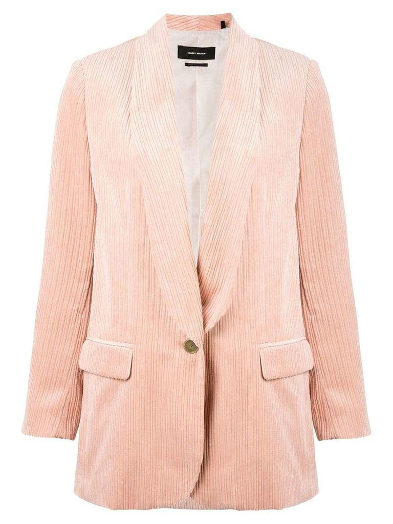 Isabel Marant longline corduroy blazer - Pink