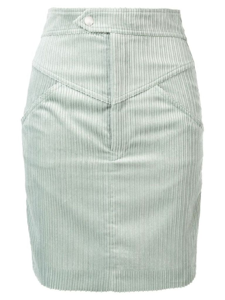 Isabel Marant high waisted corduroy skirt - Green