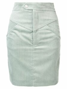 Isabel Marant high waisted corduroy skirt - Green
