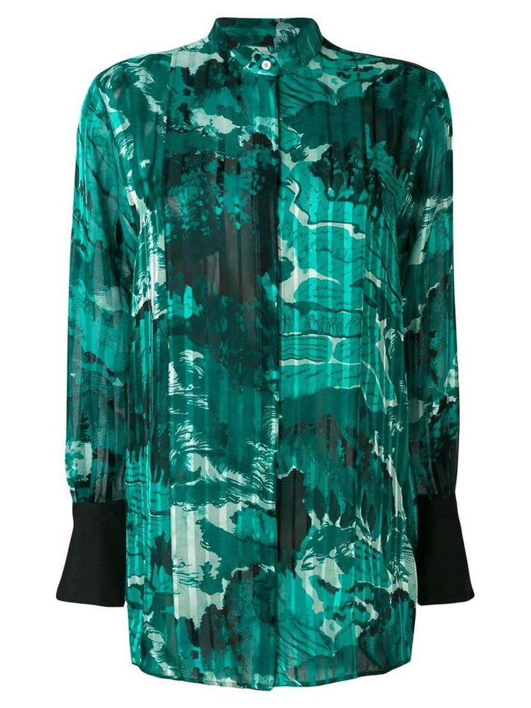 Victoria Victoria Beckham all-over print shirt - Green