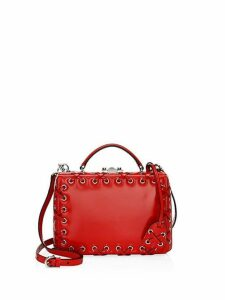 Small Grace Lace-Up Leather Box Shoulder Bag