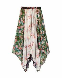 Amur Mica Color-Blocked Floral Skirt