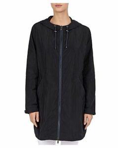 Gerard Darel Leni Hooded Zip Trench Coat