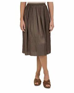 Gerard Darel Indra Shirred Midi Skirt