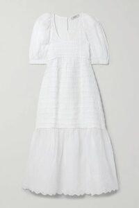 GANNI - Leather Mini Dress - Army green