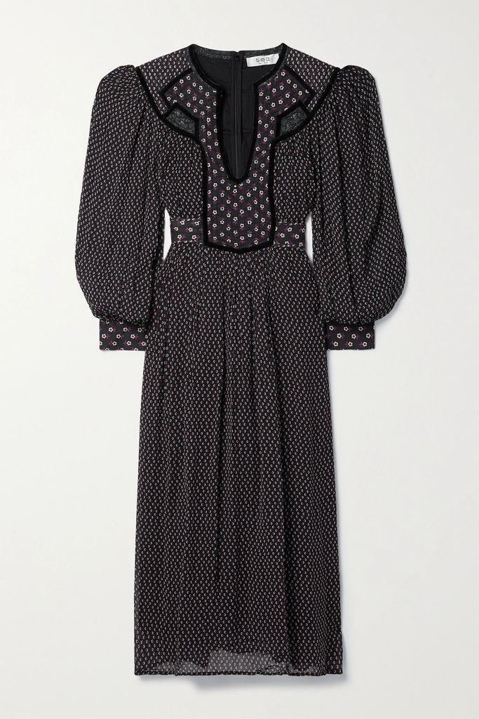 Stine Goya - Luisa Belted Suede Coat - Red