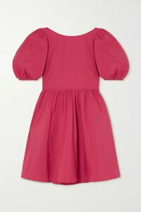 Stine Goya - Luisa Belted Suede Coat - Red