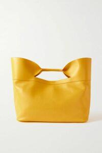 GANNI - Leather Mini Wrap Skirt - Army green