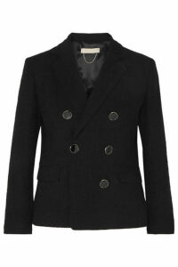 Vanessa Bruno - Epone Double-breasted Cotton-blend Cloqué Blazer - Navy