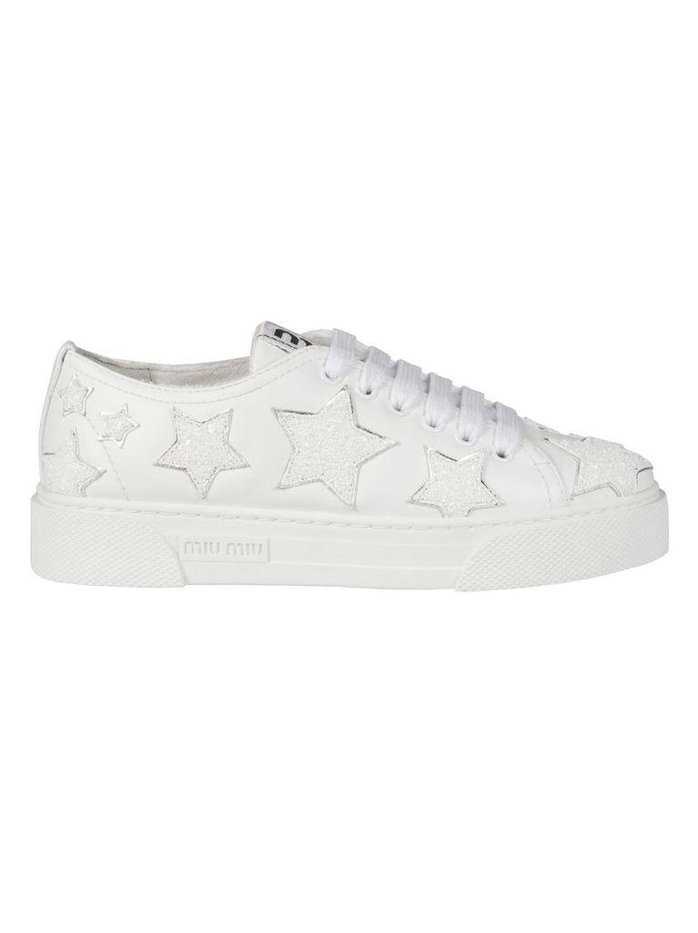 Miu Miu Glitter Stars Sneakers