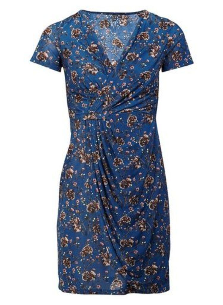 Womens *Izabel London Multi Colour Ditsy Floral Print Wrap Dress- Multi Colour, Multi Colour