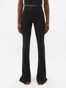 Fendi - High Rise Broderie Anglaise Cotton Midi Skirt - Womens - Orange