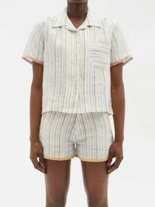 My Beachy Side - Tiered Broderie Anglaise Cotton Dress - Womens - Black