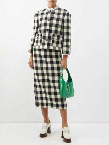 Dolce & Gabbana - Rose Print Silk Chiffon Ruffled Mini Dress - Womens - White Multi