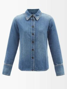 Haider Ackermann - Off The Shoulder Cady Dress - Womens - Blue