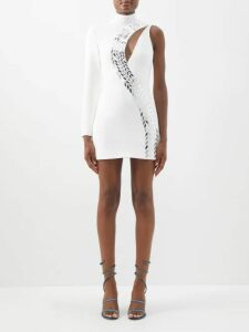 Haider Ackermann - Salinas Cashmere Blend Oversized Cardigan - Womens - Blue White