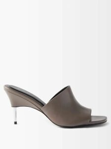 Christopher Kane - Double-breasted Iridescent-chiffon Trench Coat - Womens - Black Multi