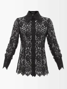 Beulah - Ratna Floral Print Chiffon Wrap Dress - Womens - Navy Multi